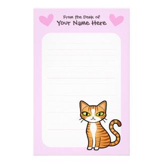 Diseñe su propio gato del dibujo animado (los cora  papeleria de diseño