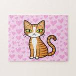 Diseñe su propio gato del dibujo animado (los cora puzzles con fotos