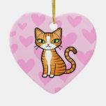 Diseñe su propio gato del dibujo animado (los adornos de navidad