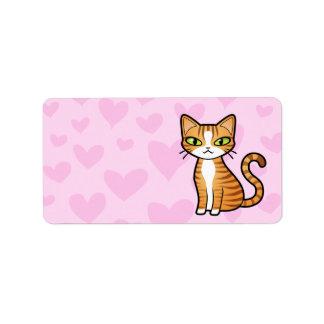 Diseñe su propio gato del dibujo animado (los etiqueta de dirección