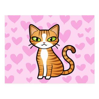 Diseñe su propio gato del dibujo animado (los postales
