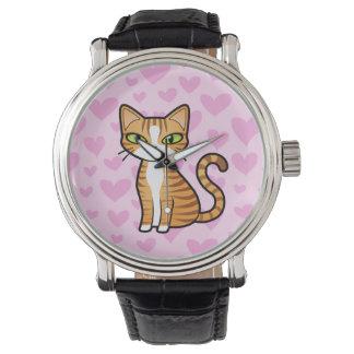 Diseñe su propio gato del dibujo animado (los reloj