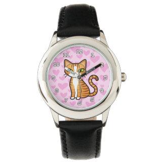 Diseñe su propio gato del dibujo animado (los relojes de mano