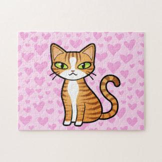 Diseñe su propio gato del dibujo animado (los rompecabezas