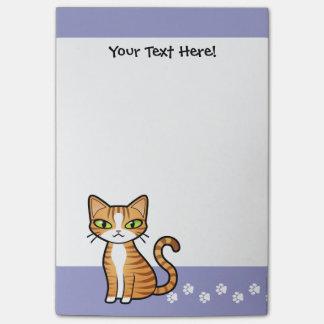 Diseñe su propio gato del dibujo animado nota post-it
