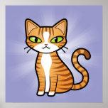 Diseñe su propio gato del dibujo animado impresiones
