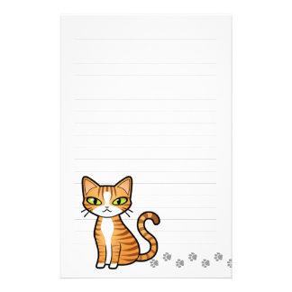 Diseñe su propio gato del dibujo animado papeleria
