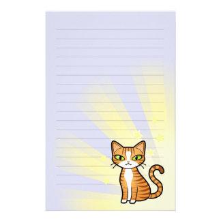 Diseñe su propio gato del dibujo animado papelería personalizada