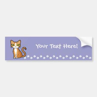Diseñe su propio gato del dibujo animado pegatina para auto