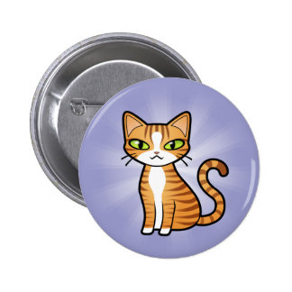 Diseñe su propio gato del dibujo animado pins