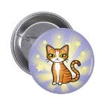 Diseñe su propio gato del dibujo animado pin redondo de 2 pulgadas