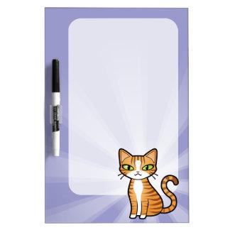 Diseñe su propio gato del dibujo animado pizarras