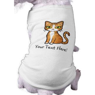 Diseñe su propio gato del dibujo animado playera sin mangas para perro