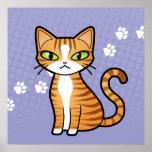 Diseñe su propio gato del dibujo animado posters