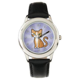 Diseñe su propio gato del dibujo animado reloj de mano