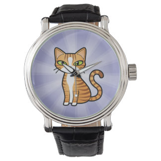 Diseñe su propio gato del dibujo animado relojes