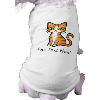 Diseñe su propio gato del dibujo animado camiseta de perrito