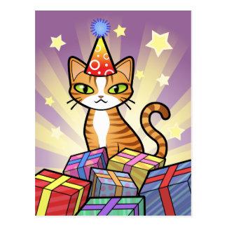 Diseñe su propio gato del dibujo animado postal