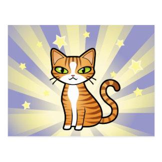 Diseñe su propio gato del dibujo animado tarjeta postal