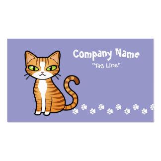 Diseñe su propio gato del dibujo animado tarjetas de visita