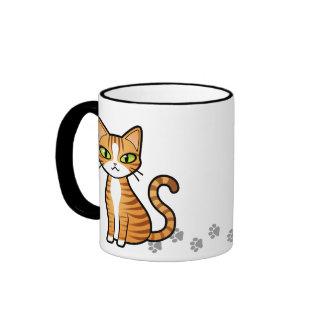 Diseñe su propio gato del dibujo animado taza a dos colores