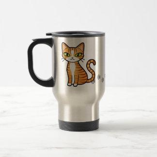 Diseñe su propio gato del dibujo animado taza de viaje