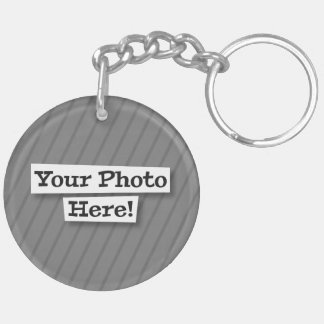 Diseñe su propio mascota y foto llavero redondo acrílico a doble cara