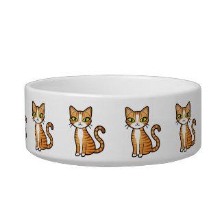 Diseñe su propio modelo del gato del dibujo animad tazones para gatos
