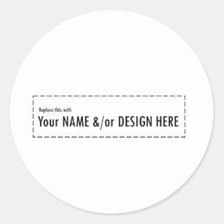 Diseñe su propio personalizado personalizan el pegatina redonda