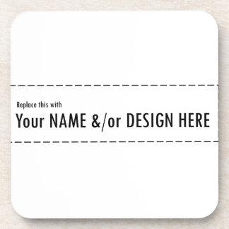 Diseñe su propio personalizado personalizan el posavasos de bebidas