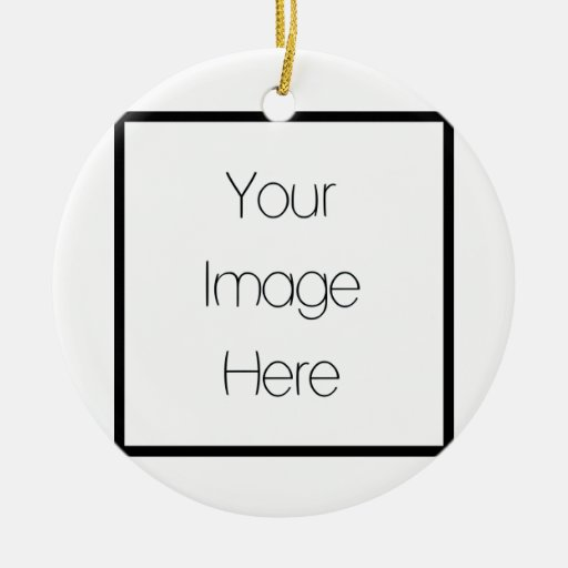 Diseñe su propio regalo de encargo - espacio en adorno redondo de cerámica