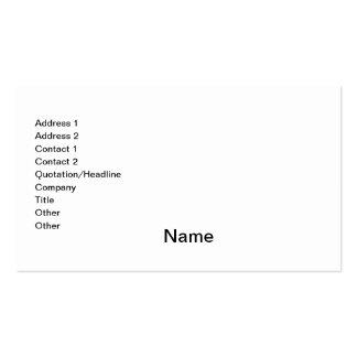 Diseñe sus los propios plantilla de tarjeta personal