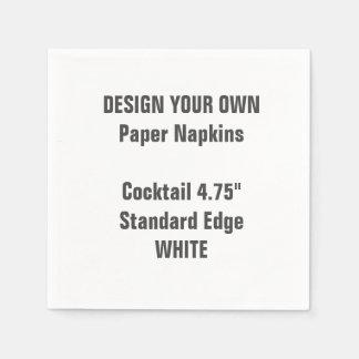 Diseñe sus propias servilletas de papel del cóctel
