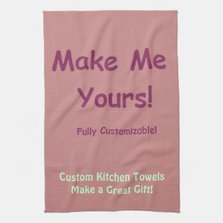 Diseñe sus propias toallas de encargo