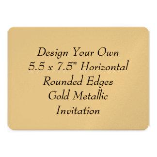 Diseñe sus propios 5 5 x 7 5 el oro V17 metálico