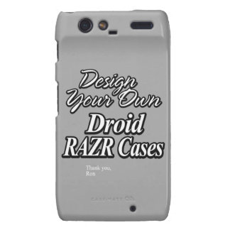 Diseñe sus propios casos de Droid RAZR Droid RAZR Funda