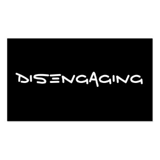 Disengaging Cards Business Card