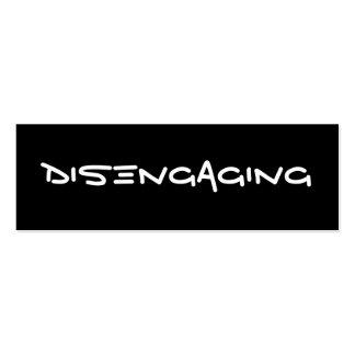 Disengaging Cards Mini Business Card