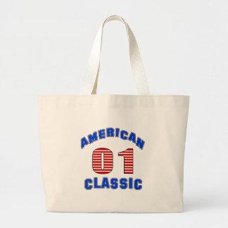 Diseño 01 del cumpleaños bolsa tela grande