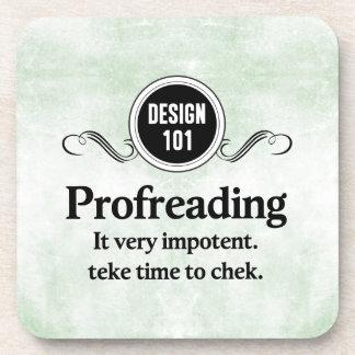 Diseño 101: Profreading (el corregir)… Posavasos