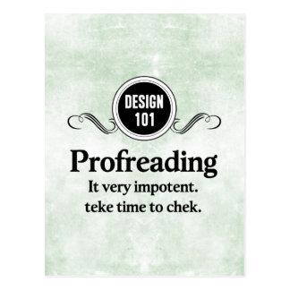 Diseño 101: Profreading (el corregir)… Postal