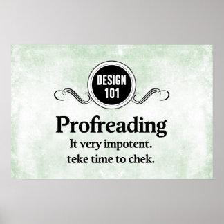 Diseño 101: Profreading (el corregir)… Póster