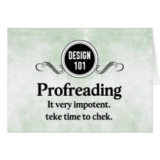 Diseño 101: Profreading (el corregir)… Tarjeta Pequeña