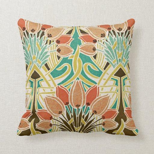 Diseño #11 de Nouveau del arte Almohadas