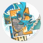 Diseño 1 de Batman Etiqueta Redonda