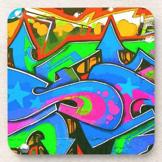 Diseño #1 de la pared de la pintada de la calle de posavasos de bebida
