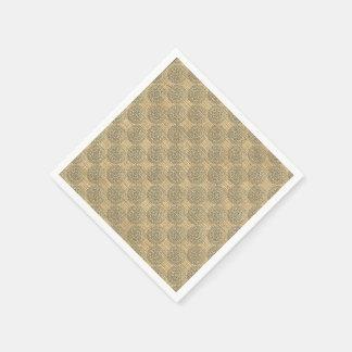 Diseño 1 del adorno de las mandalas de la flor del servilleta de papel