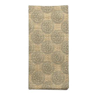 Diseño 1 del adorno de las mandalas de la flor del servilletas