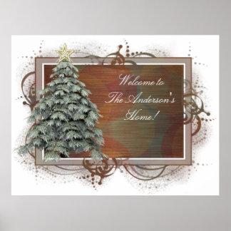 Diseño 1 del árbol de navidad - impresión poster