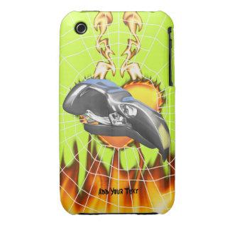 Diseño 1 del cráneo del águila del cromo con el Case-Mate iPhone 3 funda